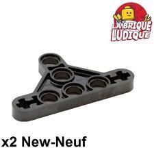 Lego Technic - 2x Liftarm triangle thin mince type 2 noir/black 99773 NEUF