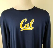 Collegiate Licensed Cal Golden Bears Navy  Dri Fit  Shirt size L 22318-5 D2