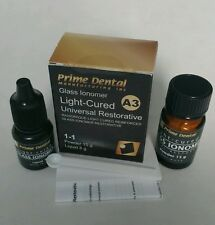 Glass Ionomer Light cure dental universal restorative A3 Prime Dent.