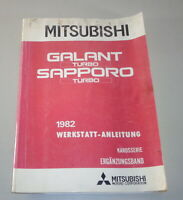 Workshop Manual Supplement Body Mitsubishi Galant Station Wagon A160 1982
