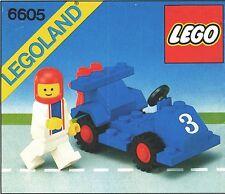 LEGO ROAD RACER 6605 Set Classic City Town 1x minifig minifigure race car