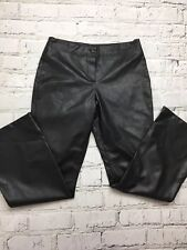 NEW LOOK - Black Faux Leather Bootcut Trousers - Womens - Size 12