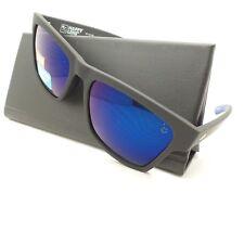 Spy Optics Haight 2 Soft Matte Black Blue Flash Mirror New Sunglasses