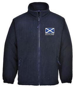 Embroidered Scotland Flag Full Zip Fleece - Mens & Ladies, GIFT IDEA, PRESENT