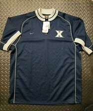 Vintage Xavier Musketeers Nike Basketball Warm Up Jersey shirt Mens Large NCAA