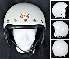 VTG BEAUTIFUL '75 BELL MAGNUM MAG III 3 MOTORCYCLE CAR RACING WHITE HELMET 7 1/2