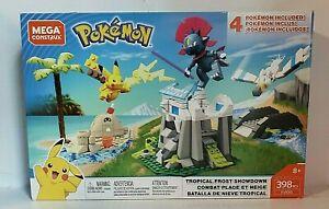Mega Construx Pokemon Tropical Frost Showdown Pikachu Sandygast Weavil FAST SHIP