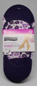 2 Pr. Ladies NO NONSENSE Aromatherapy Mesh Shoe Liners shoe Size 4-10US #a New