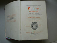 Vintage 1912 Burke's Peerage & Knightage Book George V British Aristocracy