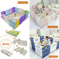 Children's Funny Foldable Play Mat Large Folding crawling Baby Mats For Playroom