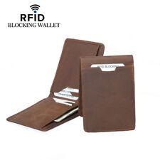 Rfid Blocking Wallet Genuine Leather Slim ID Credit Card Holder Case Men Purse