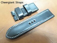 Panerai black and brown Shell Cordovan strap samples Cheergiant hand made Straps