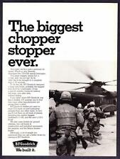 "1969 Sikorsky CH-53A Assault Helicopter photo ""Chopper Stopper"" B.F. Goodrich Ad"