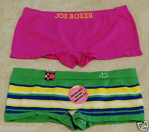 Women's Regular or Plus Size Seamless Boy Shorts & Hipsters-Set of 2: S-L-XL-2X