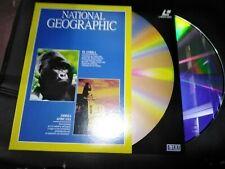 NATIONAL GEOGRAPHIC LASER DISC EL GORILA Y ODISEA AFRICANA