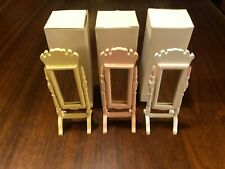 CONCORD DOLLHOUSE BEAUTIFUL YELLOW STANDING MIRROR #6257Y M/OB, LQQK! + COLORS
