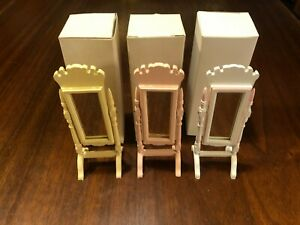 CONCORD DOLLHOUSE BEAUTIFUL PINK STANDING MIRROR #6257P M/OB, LQQK! OTHER COLORS
