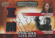 Captain America Civil War Costume Card BBI-BB Scarlett Johansson & Chad Boseman