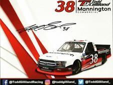 Autographed 2020 Todd Gilliland #38 Mannington Commercial Postcard