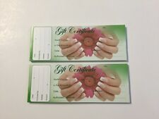 2X-Gift Certificate book/Nail/ Gift for nail & beauty salon SALE