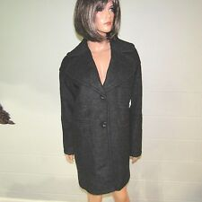 Victoria's Secret Polyester Wool Button Front Trench Coat Jacket Gray XS NWT