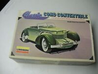 1933 Classic Cord Convertable Lindberg  Model Kit  Original Box 1:25 scale 1979