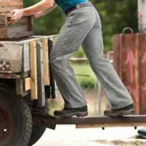 DULUTH TRADING COMPANY Women's Flex Fire Hose Utility Pants 6 Gray Grey