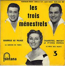 LES 3 MENESTRELS QUADRILLE AU VILLAGE FRENCH ORIG EP ALAIN GORAGUER