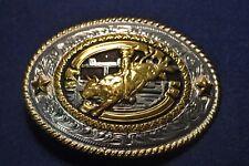 Cast Bull Rider Stars Silver Gold Cowboy Belt Buckle Lone Star Silversmith NEW