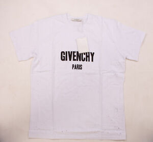 Herren Givenchy Paris Shirt OVERSIZE Distressed-Optik White & Black Neu&OVP