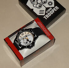 "Disney STAR WARS ""STORMTROOPER"" Men's Analog Quartz Watch w/ Gift Box SWCAQ034"