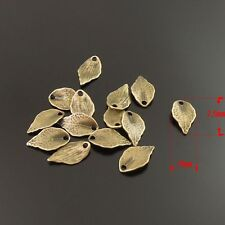 100pcs Antiqued Bronze Alloy Leaf Pendants Charms 15x9x1mm Fashion Jewelry 34183