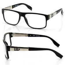 New Mens Square Clear Lens Frame Eye Glasses Fashion Designer Black Nerd Wrap