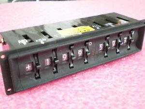Digitran Miniswitch 700 Series M-22710/15 PCB ThumbWheel Switch 7-Ports 7-R-204