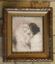 Bild Mutter mit Kind Druck von Lembach schöner Rahmen Malerfürst von München