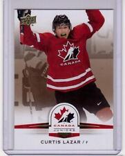 CURTIS LAZAR 14/15 Upper Deck Team Canada Juniors #90 Gold Sepia Rookie SP
