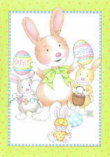 Mary Engelbreit-Happy Easter Bunny Eggs-Greeting Card/Envelope-New!