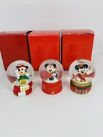 Jcpenny Mini Mickey Mouse Snowglobes Lot 2006,2007,2008