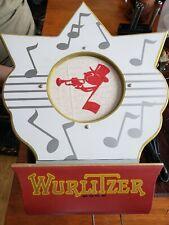 REPRO WURLITZER JUKEBOX TYPE 4003 WALL SPEAKER, WOOD SCROLL JOHNNY 1-NOTE GRILLE