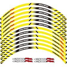 """Für HONDA CBR HRC Fahrrad Rad Aufkleber 17"""" reflektierende Aufkleber Rim-gelb"""