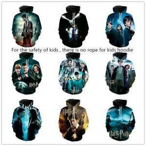 kid's Harry potter 3D printed hoodie autumn pullover coat hiphop sweatershirt