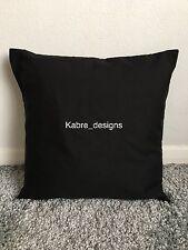 "1 12"" Plain Black Cotton Cushion Cover Other Colours Sizes Available"