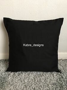 """1 NEW 12"""" PLAIN BLACK COTTON CUSHION COVER OTHER COLOURS SIZES AVAILABLE"""
