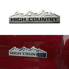 New Silver Chevy Silverado HIGH COUNTRY Emblem for Silverado 1500 2500HD 3500HD