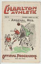 More details for charlton athletic v arsenal rare london combination programme 1935/36