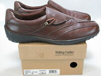 WALKING CRADLES Women's CASSIE Brown Leather Loafers US 8.5 M NEW IN BOX