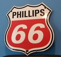VINTAGE PHILLIPS GASOLINE PORCELAIN GAS MOTOR SERVICE STATION PUMP OIL RACK SIGN