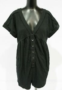 Daily Practice by Anthropologie Women's Lounge Romper MP7 Black Medium NWT