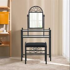 Home Heart Shaped Iron Decoration Dresser with Rectangular Dressing Stool NFP