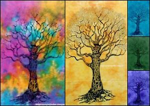 Tapestry Dry Tree Design Indian Wall Hanging Poster Beautiful Cotton Small Solid